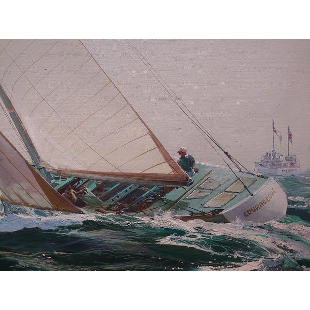 Kipp Soldwedel -Victory 1974 -Sailing Yacht - Original Oil Painting For Sale In Los Angeles - Image 6 of 10