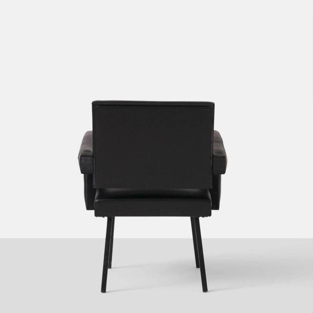 Jacques Adnet Jacques Adnet Leather Armchair For Sale - Image 4 of 7