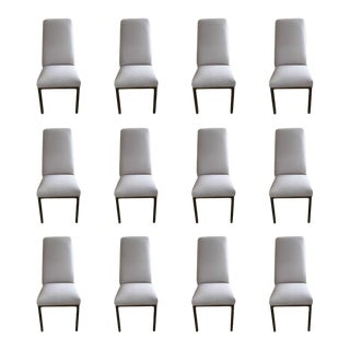 Mastercraft Dining Room Chairs With Bronze Finished Legs - Set of 12 For Sale