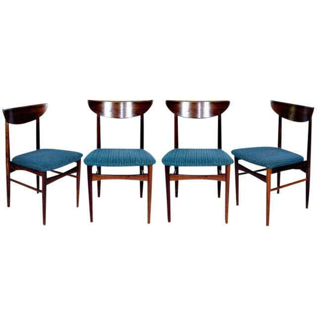 Set Of 4 Rosewood Dining Chairs For Sale