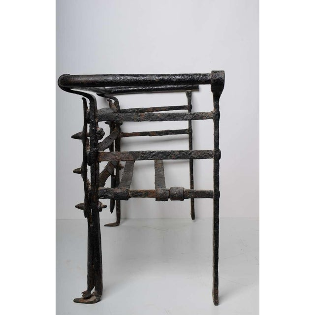 Metal Antique Fire Grate/Bucket, 17th Century Dutch For Sale - Image 7 of 10