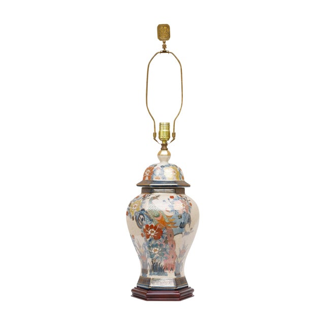 Chinoiserie Porcelain Table Lamp by Knob Creek For Sale