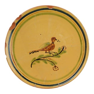 Hertz Pottery French Terracotta Charger With Bird For Sale