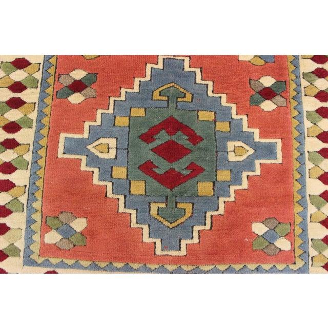 Ori̇ental Turki̇sh Wool Rug - 3′6″ × 4′10″ For Sale - Image 4 of 7