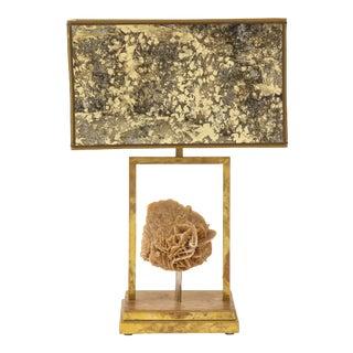 Modern Desert Rose Brass Lamp For Sale