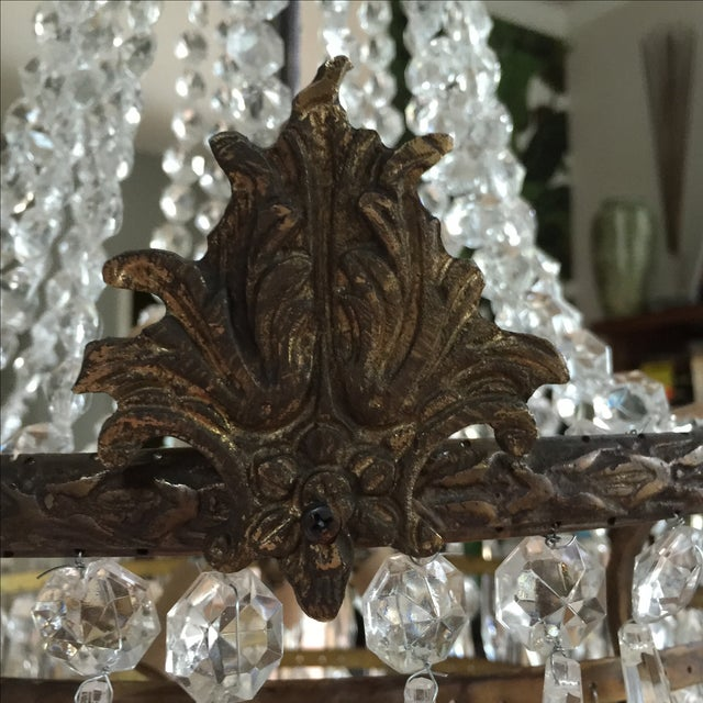 Crystal Acanthus Drop Crystal Chandelier For Sale - Image 7 of 9