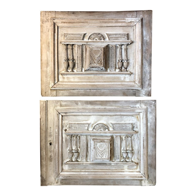19th Century Vintage French Architectural Panels- a Pair For Sale