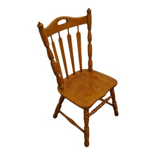 Tell City Solid Hard Rock Maple Arrowback Dining Side Chair 8072 - #48 Andover Finish For Sale