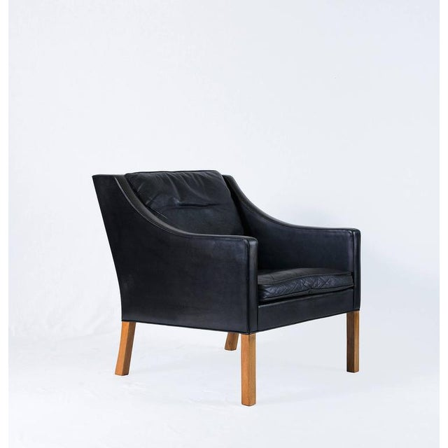 Borge Mogensen Model #2207 Leather Lounge Chair - Image 2 of 10