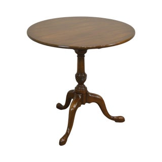 Kittinger Historic Newport Collection Mahogany Round Queen Anne Tilt Top Table For Sale