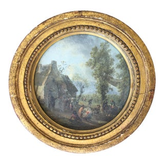 18th C. French Water Color Scene