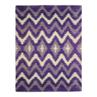 Modern Purple Pattern Rug For Sale