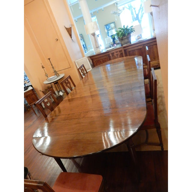Traditional French Walnut Extension Dining Table For Sale - Image 3 of 12