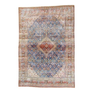 1910s Antique Joshagan Medallion Hand-Knotted Rug For Sale