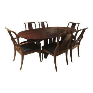 Henredon Tiger Maple Dining Set