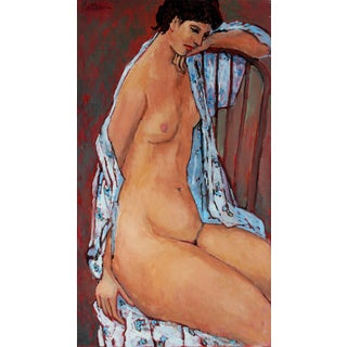 Rip Matteson Seated Female Nude, Oil on Canvas Painting, Late 20th Century For Sale