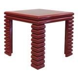 Image of 1980s Memphis Sculptural Lacquered Wood Game Table For Sale