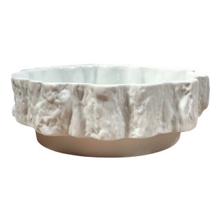 Modernist Porcelain Bowl With Faux Bois Design For Sale