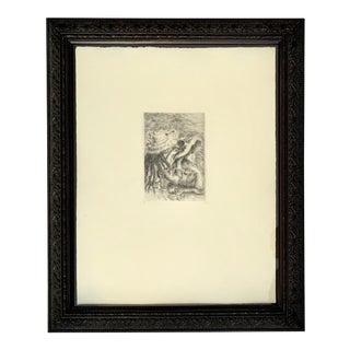Renior 1894 Etching With Museum Glass For Sale