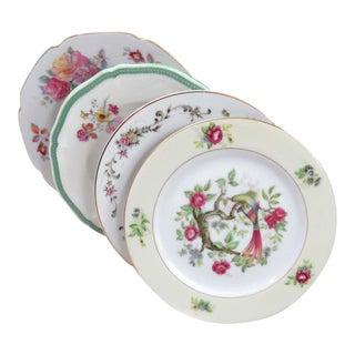 Vintage Mismatched China Bread Plates - Set of 4 For Sale