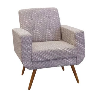 Modern Athena Print Fabric Armchair For Sale