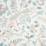 Schumacher Campagne Wallpaper in Peacock & Rouge , Sample