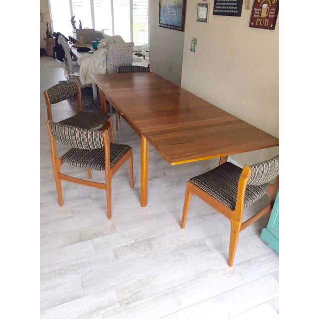 Danish Teak Dining Room Table Set - Image 4 of 9