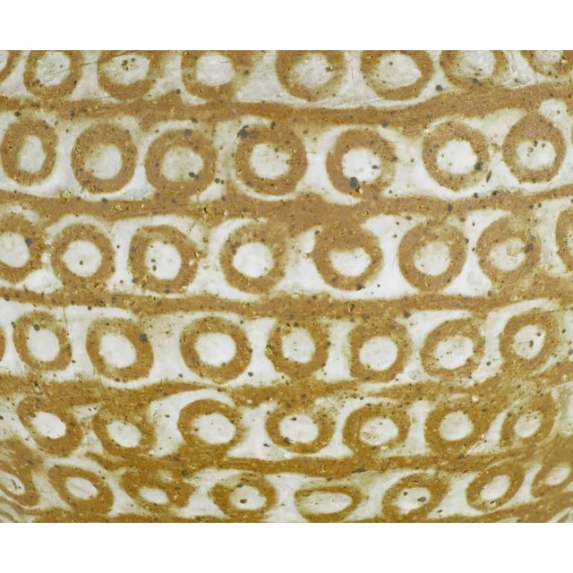 Relief Patterned Earthen Pottery Vase by Tomiya Matsuda - Image 5 of 8