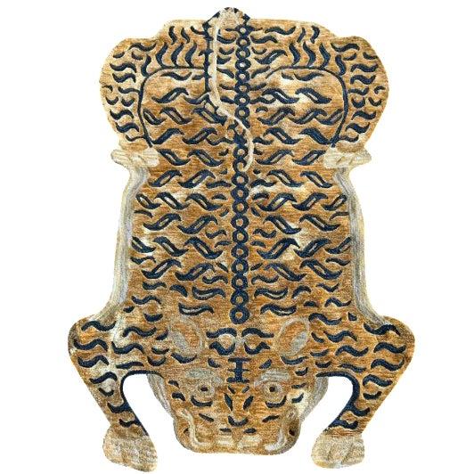 Modern Wool Tibetan Tiger Rug 3' X 5' For Sale