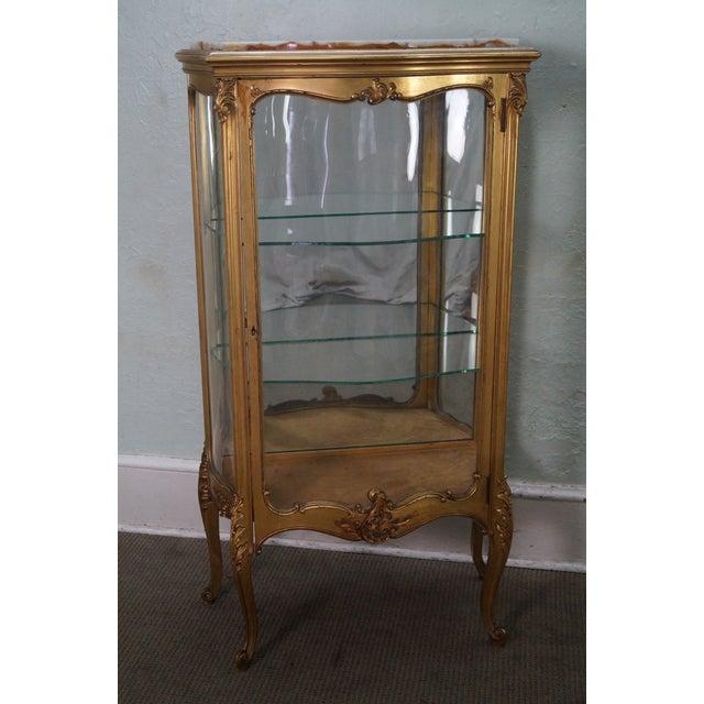 Antique French Louis XV Style Vitrine Curio Cabinet   Chairish