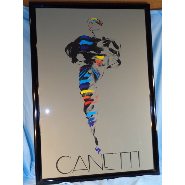Michel Canetti Lady Framed Silk Screen - Image 2 of 11