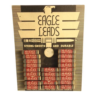Art Deco Eagle Leads Store Display With Pencil Leads For Sale