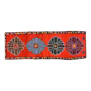 "Vintage Kurdish Tribal Rug,3'x8'5"" For Sale"