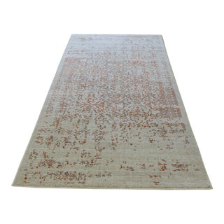 Distressed Turkish Gray Orange Rug - 8' x 10'7''
