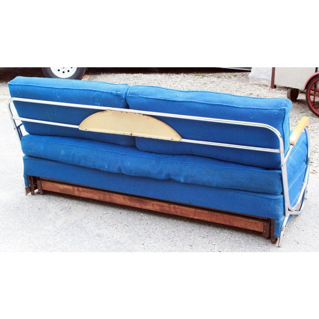 Art Deco Chrome Sofa Daybed - Image 7 of 10