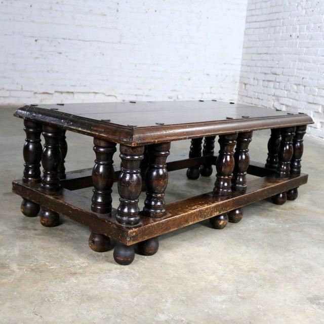 Spanish Revival Style Rectangular Coffee Table Artes De Mexico Internacionales Attribution For Sale - Image 6 of 13