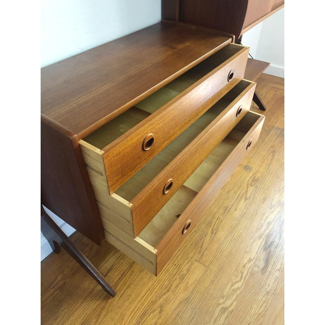 Mid Century Teak Free Standing Wall Unit by Blindheim Møbelfabrikk For Sale - Image 10 of 13