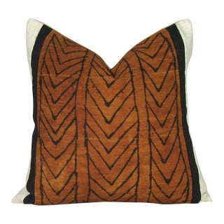 Sienna Chevron African Mudcloth Pillow Cover For Sale