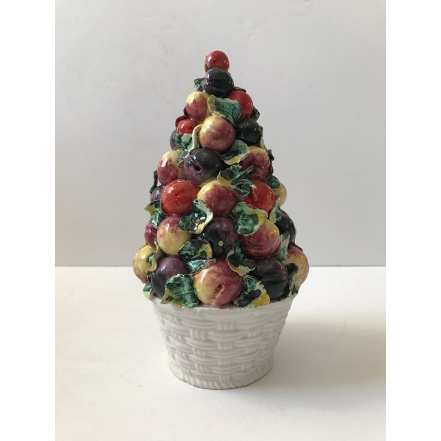Vintage Porcelain Italian Fruit Topiary - Image 9 of 9