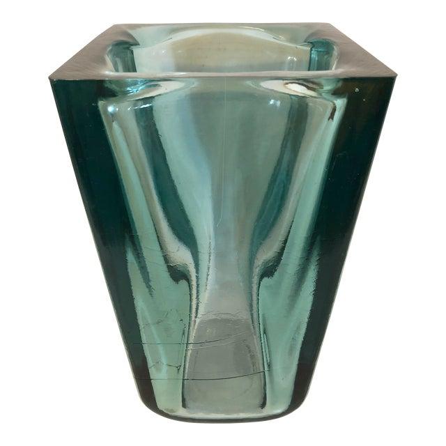 Tall Square Emerald Spanish Vase Chairish