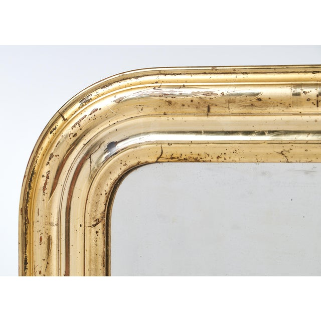 19th Century Antique French Gold Leaf Mirror For Sale - Image 4 of 10