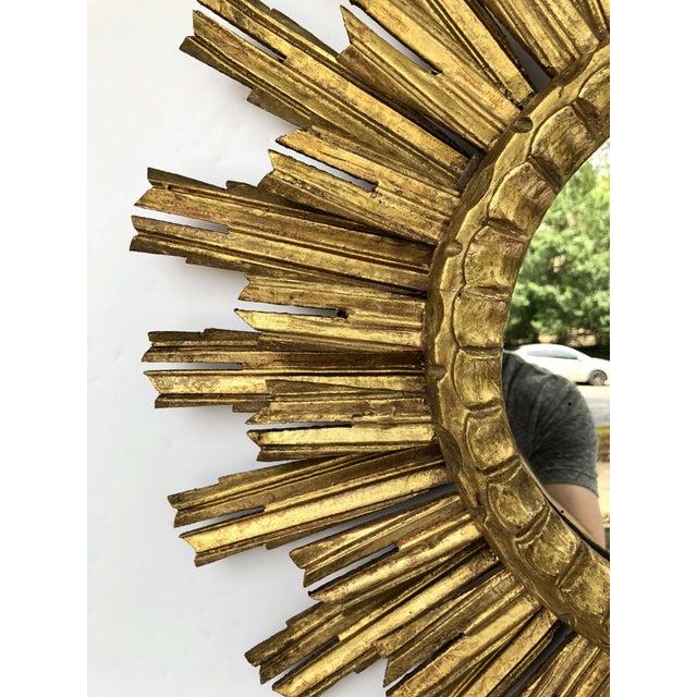 French Gilt Starburst or Sunburst Mirror (Diameter 25) For Sale - Image 4 of 9