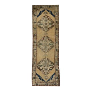 Vintage Turkish Oushak Runner With Modern Style, Hallway Runner For Sale