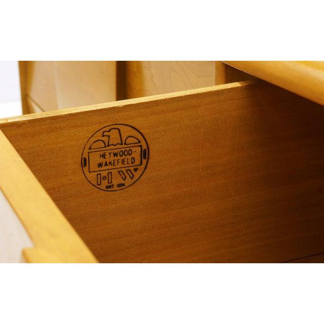 Tan Heywood Wakefield Six-Drawer Sculptura Dresser in Original Blonde Finish For Sale - Image 8 of 9