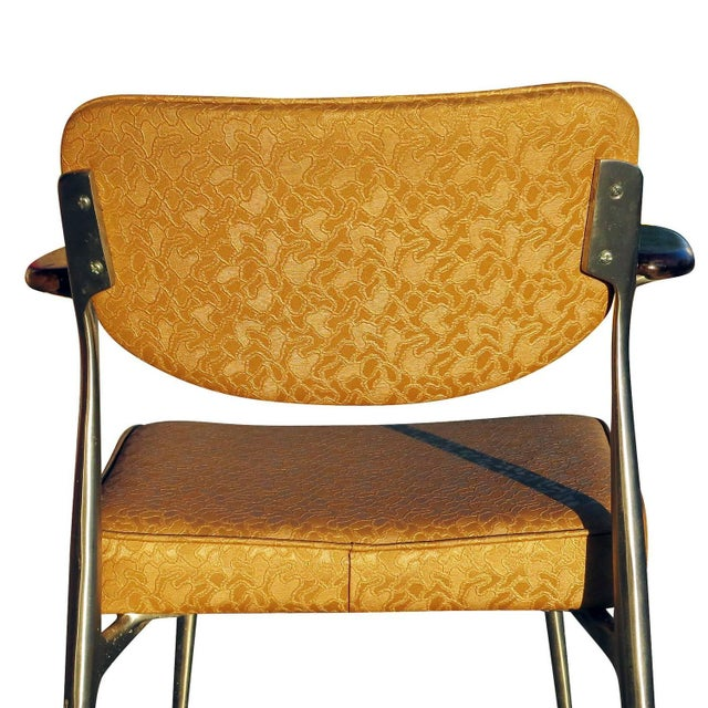 Yellow Aluminum Gazelle Armchairs - Set of 4 For Sale - Image 8 of 9
