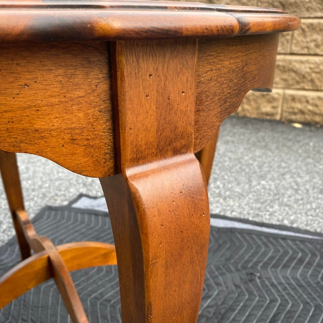 Wood Ethan Allen Country French Side Table For Sale - Image 7 of 12