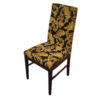 Komfort Furniture Danish Contemporary Modern Rosewood Upholstered Dining Arm Chair For Sale