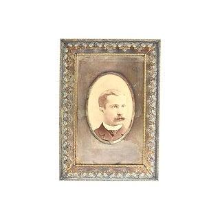 Antique Enamel & Silver-Plate Frame For Sale