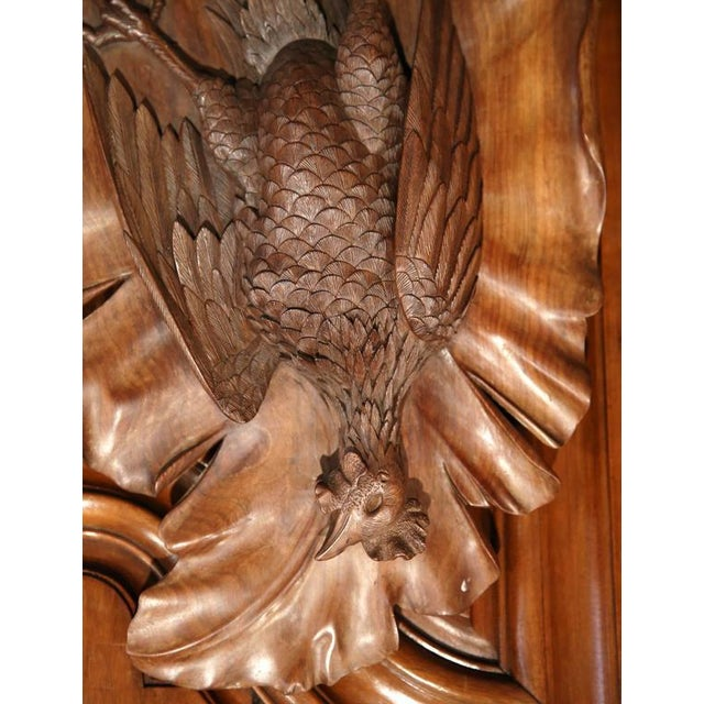 Early 20th Century French Carved Black Forest Walnut Pheasant Trophies - a Pair For Sale - Image 5 of 7