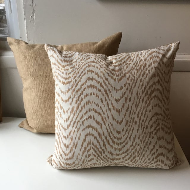 Neutral Tiger Stripe Pillow For Sale - Image 10 of 10